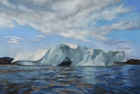 Enroute to Potter's Island, Baffin Island oil on canvas  40 x 60/102x152cm