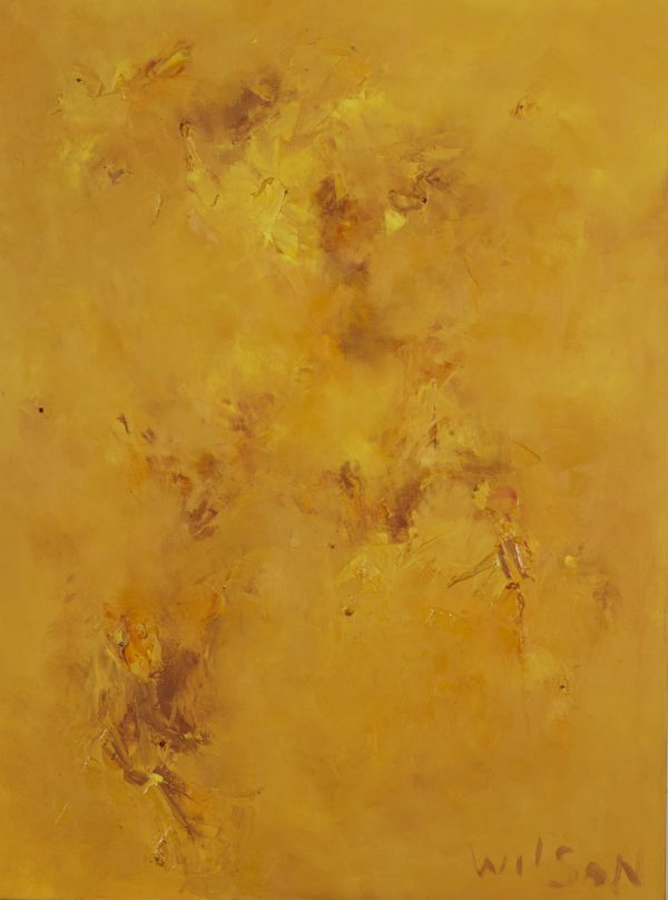 Faerie of Possibility oil on canvas with carnelian, pyrite 30×40″/76x102cm