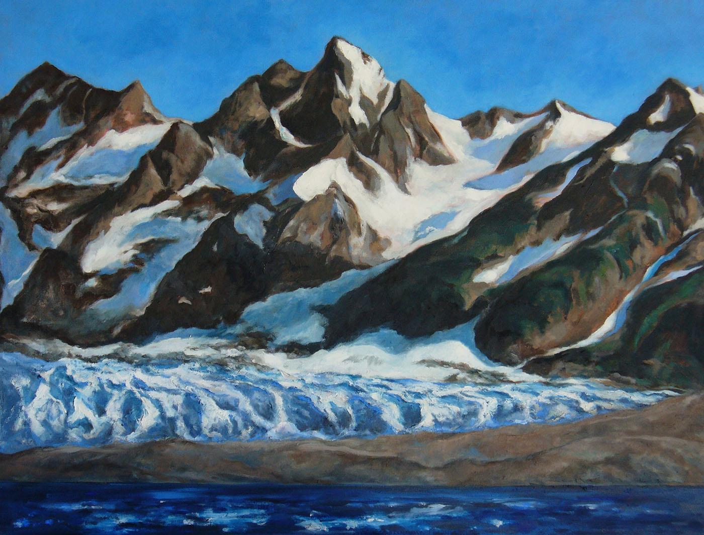 Walker Glacier,Alsek River, Alaska 34 x 26″/86x66cm